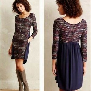 Maeve Anthropologie Boucle Sweater Dress Size L